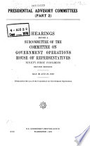 Presidential Advisory Committees