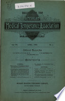 Bulletin of the American Medical Temperance Association