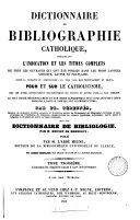 Dictionnaire d'orfèvrerie, de gravure et de ciselure chrétiennes. (3. Encycl. théol., tom.27).