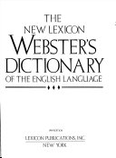 The New Lexicon Webster S Dictionary Of The English Language