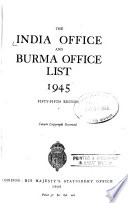 The India Office and Burma Office List for