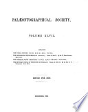 Monograph of the Palaeontographical Society Book