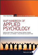 IAAP Handbook of Applied Psychology Book