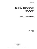 Book Review Index 2004 Cumulation Book PDF