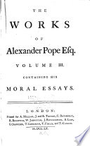 The Works of Alexander Pope, Esq