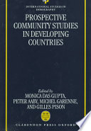 Prospective Community Studies in Developing Countries