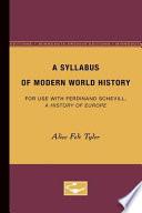 A Syllabus of Modern World History