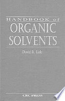 Handbook of Organic Solvents