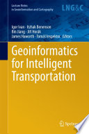 Geoinformatics for Intelligent Transportation Book
