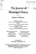 The Journal of Mississippi History