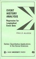 Event History Analysis