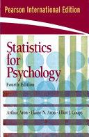 Statistics for Psychology Book