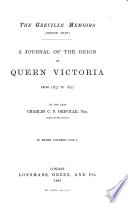 A Journal of the Reign of Queen Victoria from 1837 to 1852