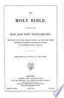 The holy Bible  A V    Book