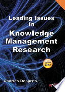 Leading Issues in Knowledge Management Research
