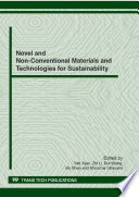 Novel and Non Conventional Materials and Technologies for Sustainability Book