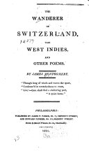 The Wanderer of Switzerland   The West Indies  and Other Poems