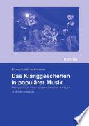 Das Klanggeschehen in populärer Musik