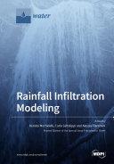 Rainfall Infiltration Modeling