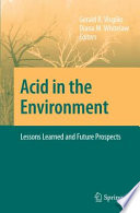Acid in the Environment Book