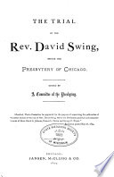 The Trial of the Rev  David Swing