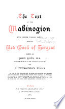 The Text of the Mabinogion