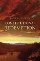 Pdf Constitutional Redemption