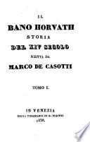Il bano Horvath; storia del XIV secolo