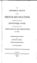 An Historical Sketch of the French Revolution