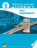 Benchmark Literacy 2016 Unit Assessments Grade 3