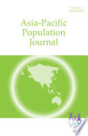 Asia Pacific Population Journal Vol 28 No 1 Sept 2013