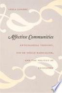 Affective Communities Book PDF