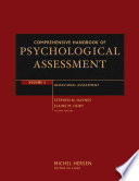 Comprehensive Handbook of Psychological Assessment  Volume 3 Book