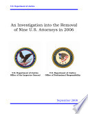 Investigation Into The Removal Of Nine U S Attorneys In 2006