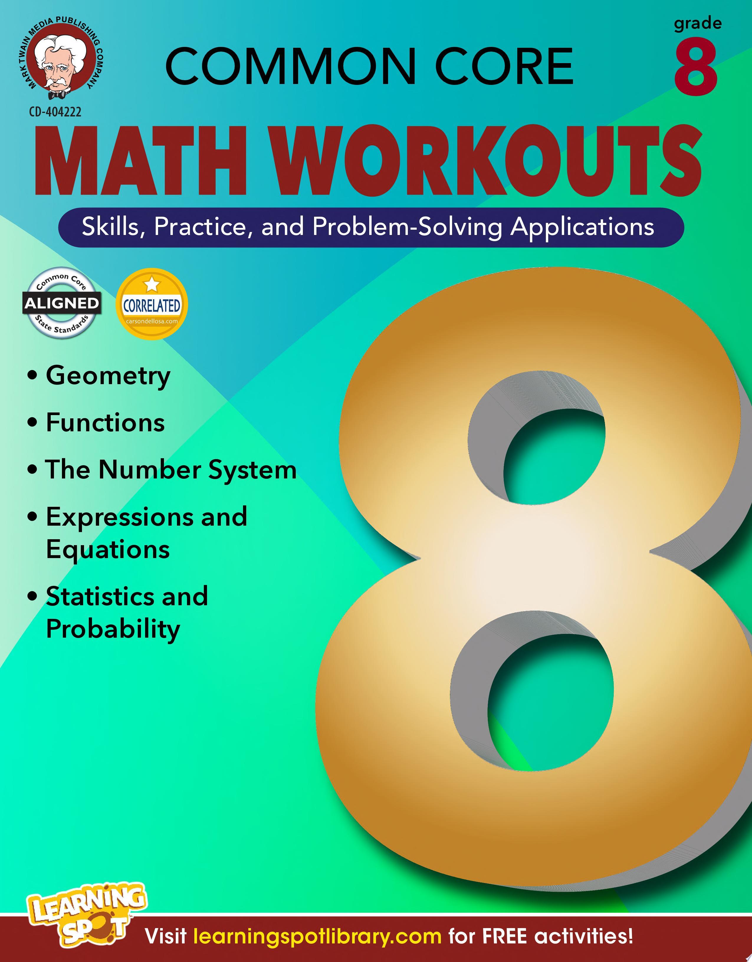 Common Core Math Workouts  Grade 8
