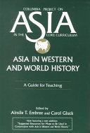 Asia in Western and World History