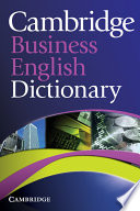 Cambridge Business English Dictionary Book PDF