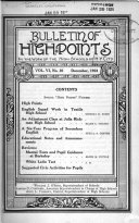 High Points in the Work of the High Schools of New York City