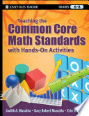 Teaching The Common Core Math Standards With Hands On Activities Grades 6 8 Book PDF