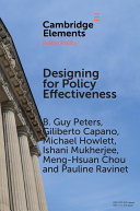 Designing for Policy Effectiveness