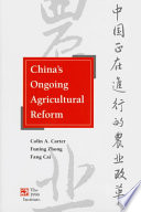 China's Ongoing Agricultural Reform
