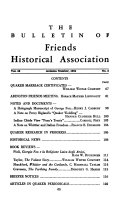 The Bulletin of Friends Historical Association