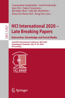 HCI International 2020     Late Breaking Papers  Interaction  Knowledge and Social Media