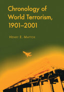 Chronology of World Terrorism  1901  2001