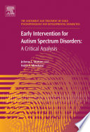 Early Intervention for Autism Spectrum Disorders Book