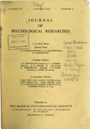 Journal of Psychological Researches