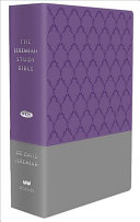 The Jeremiah Study Bible, NKJV: (Purple & Gray burnished w/ decorative pattern) LeatherLuxe®