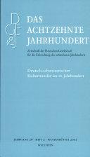 Deutsch-schweizerischer Kulturtransfer im 18. Jahrhundert