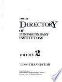 Directory of Postsecondary Institutions