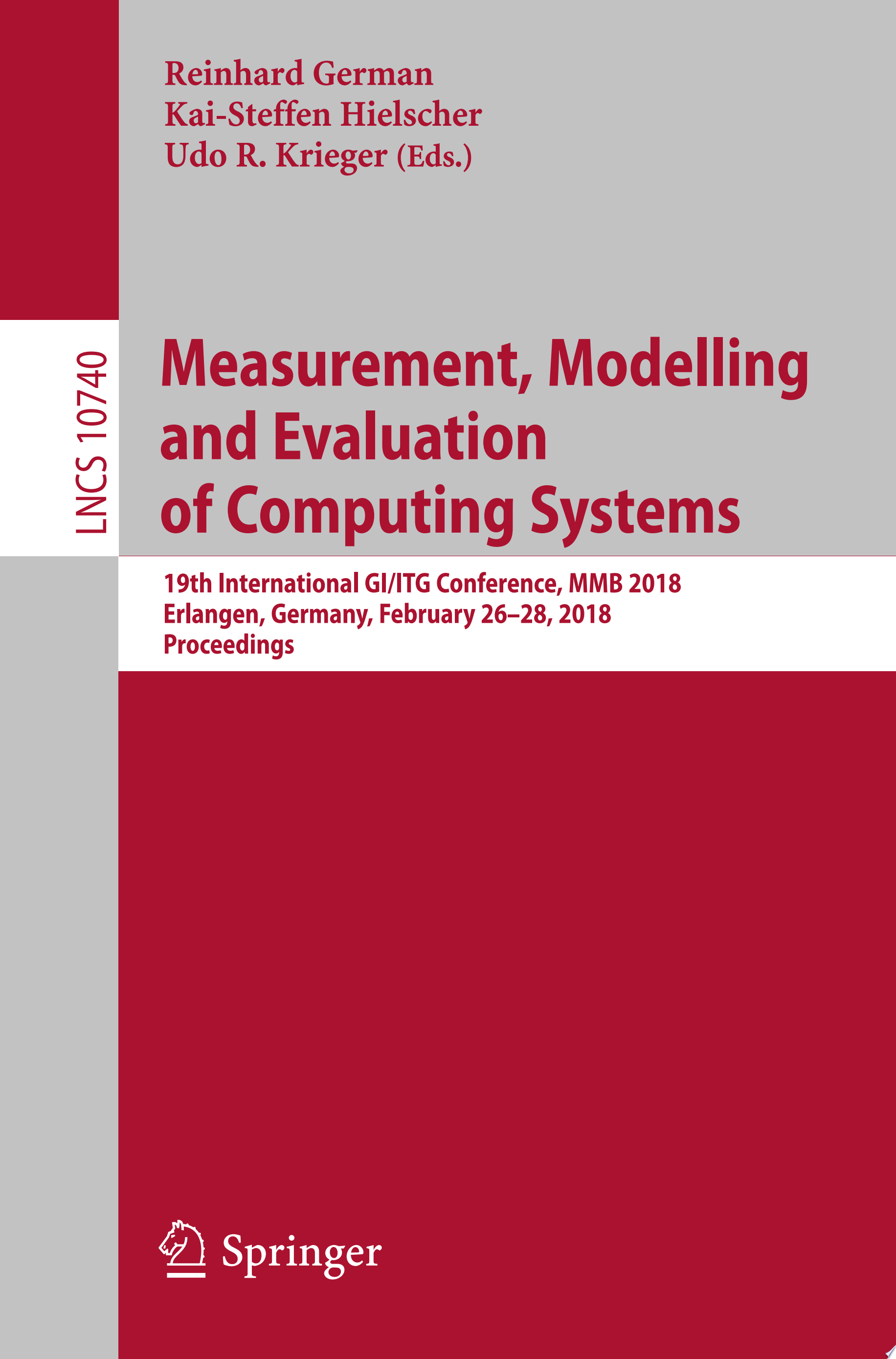 Measurement  Modelling and Evaluation of Computing Systems